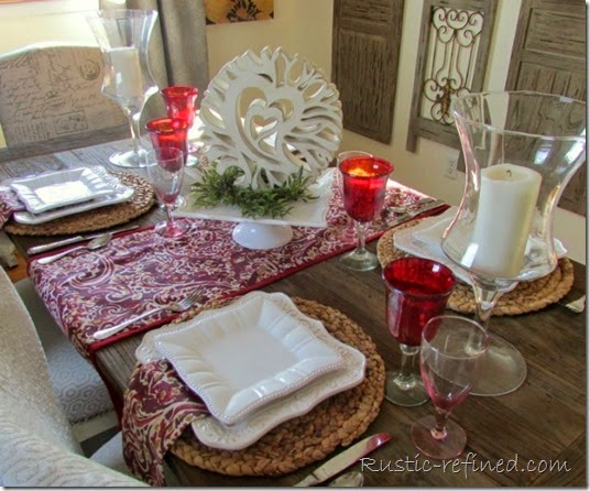 Setting a Valentines Table for Less Money