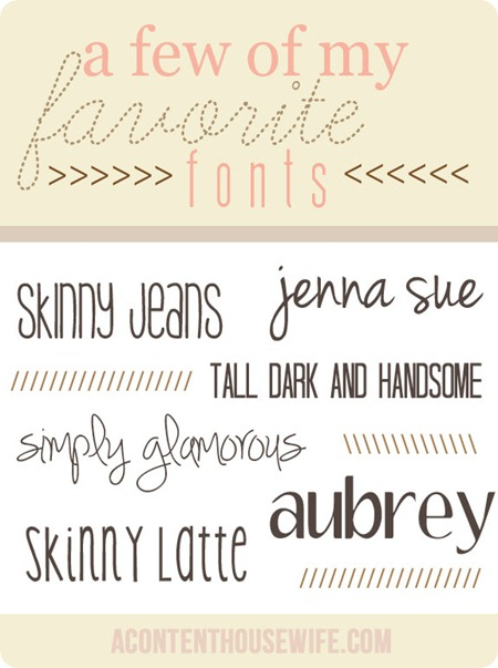 favorite fonts 1