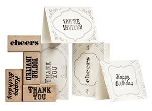 Privet House at Target Stationery and Rubber Stamp Set