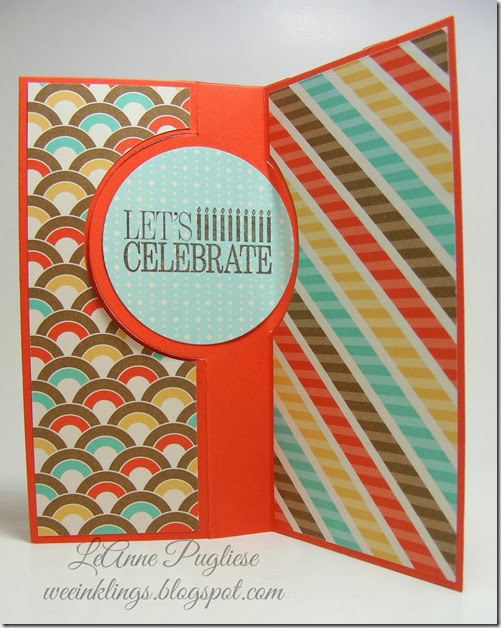 LeAnne Pugliese WeeInklings Stampin Up Make A Wish Birthday Card Inside