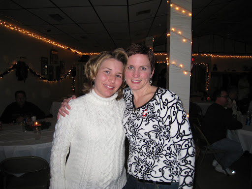 Kim and Shelley at the Cooper HS Christmas dinner