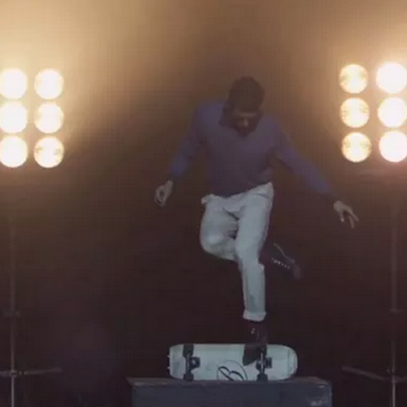 Mezcla de ópera y skateboard