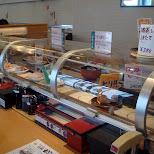 convey belt sushi in Shinjuku, Tokyo, Japan