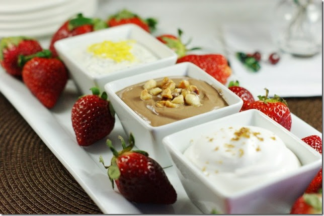 Trio of Dips with Strawberries 1