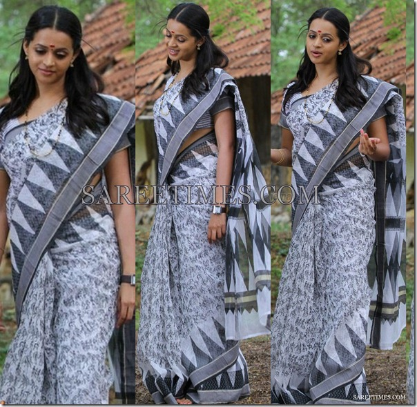 Bhavana_White_Cotton_Saree