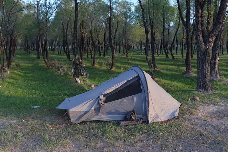 Locul de cort din seara asta.