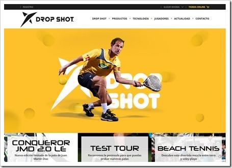 Drop Shot renueva su página web y anuncia próximamente su tienda online.