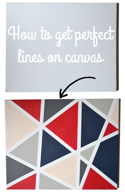 Painting Perfect Lines on Canvas