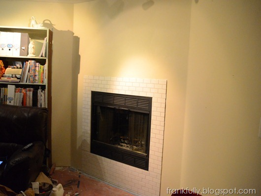 fireplace wall painted