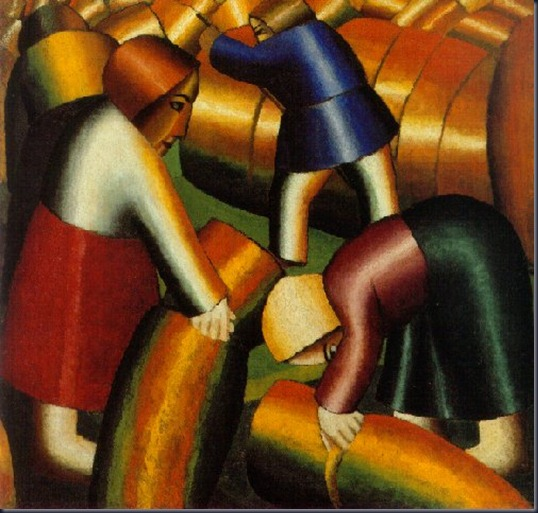 Kasimir Malevich 1878-1935. Taking in the Harvest, 1911-12.