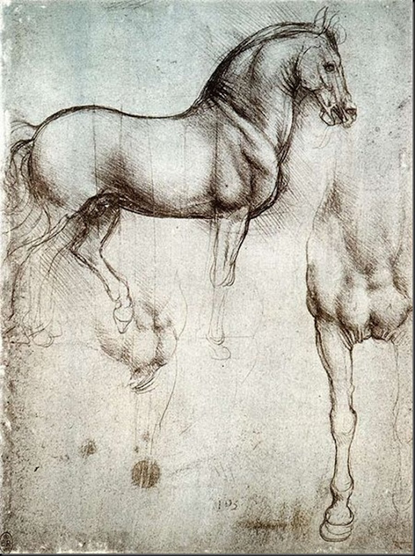Leonardo da Vinci Study of horse