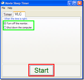 Movie Sleep Timer VLC