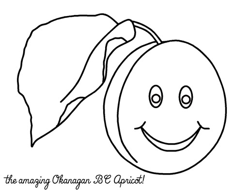 amazing apricot coloring page