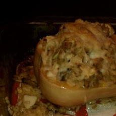 Sausage and Rice Stuffed Summer Squash