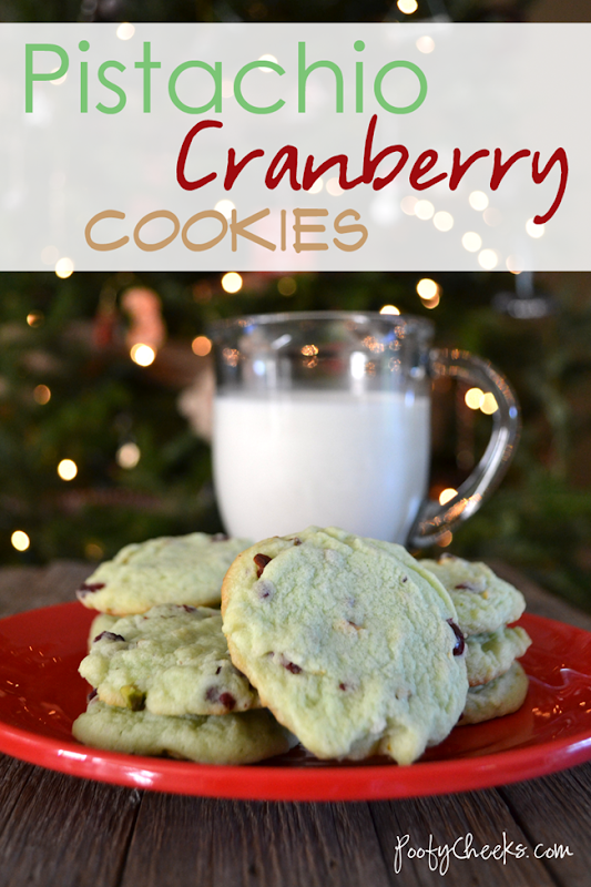 Pistachio Cranberry Cookies from PoofyCheeks.com