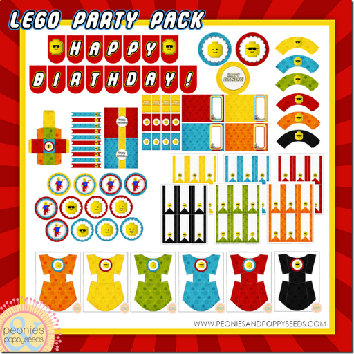 picture relating to Lego Party Printable known as Peonies and Poppyseeds: Lego Birthday Social gathering Printable Pack