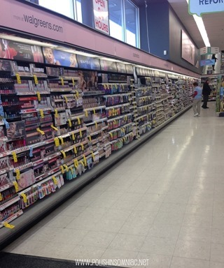 I love how the beauty section of Walgreens takes up a whole wall! #WalgreensBeauty #CollectiveBias #shop