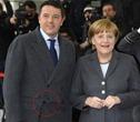 Berlino-Matteo-Renzi e Angela Merkel