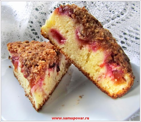 Сливовый пирог. www.samapovar.ru