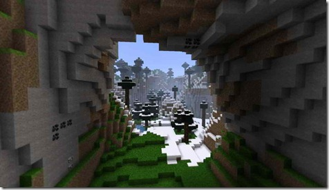The-Perfect-Picture-Snow-forest-Minecraft
