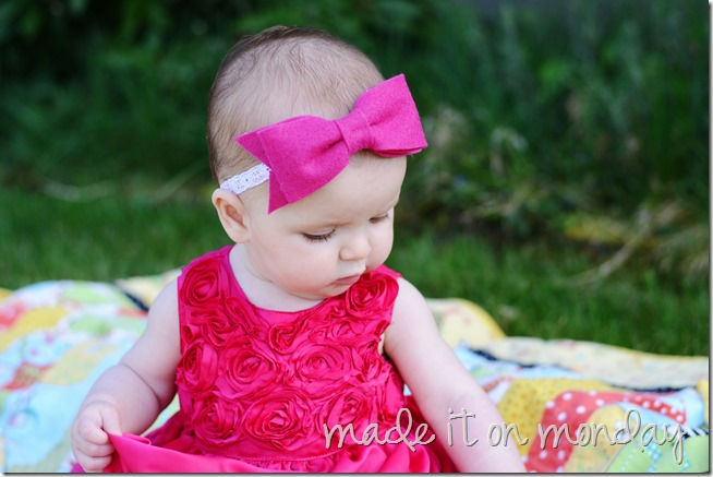 Big Felt Bow Headband @ Made it on Monday