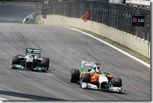 Sutil supera Rosberg nel gran premio del Brasile 2011