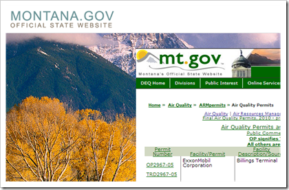 Montana Government Air Quality Permits