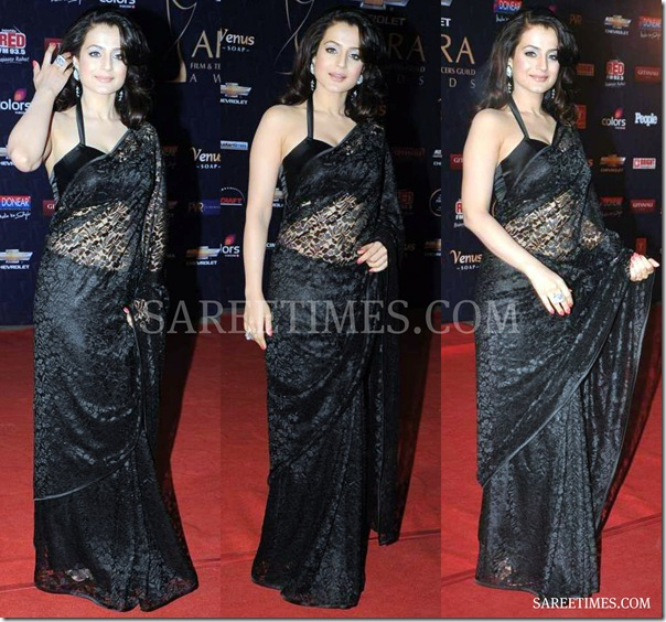 Amisha_Patel_Black_Saree