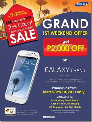galaxy grand promo