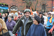 Ben and Joan Russow join the One Billion Rising walk, a global show of solidarity to end violence against women and girls