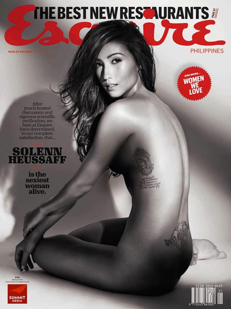 Solenn Heussaff on Esquire Ph Feb 2013 cover
