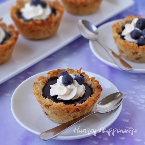 blueberry-dessert-coconut-cups-filled-with-curd