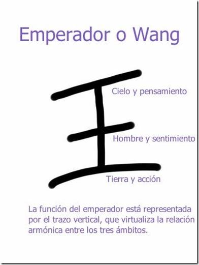 Ideograma Wang, emperador explicado