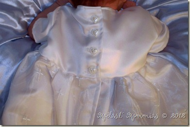 Edwards Baptism Gown by Mommy - buttons