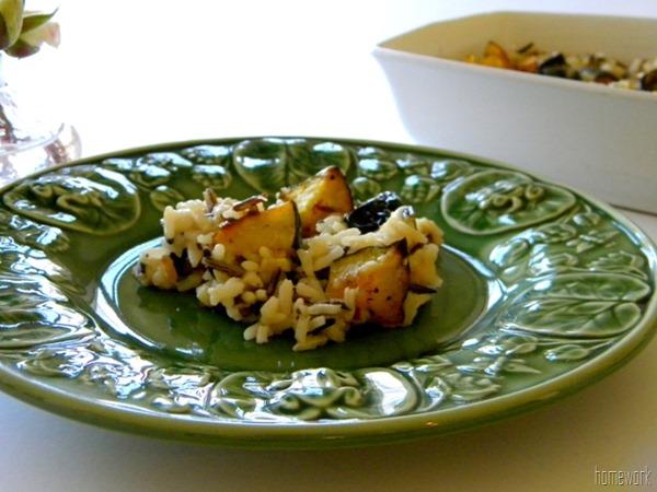 Acorn Squash and Wild Rice Casserole via homework | carolynshomework.com