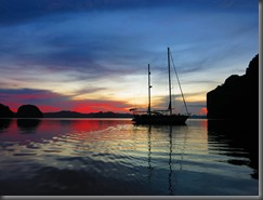 quiet anchorage for the night el nido phillippines