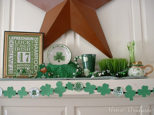 St Pats Mantle with printable