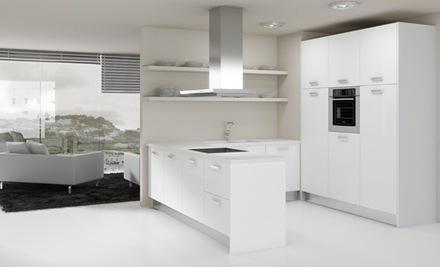 15 cocinas blancas de estilo minimalista arquitexs - Cocina blanca mate ...