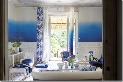 Dip dye ombre walls- LIVING via poppytalk