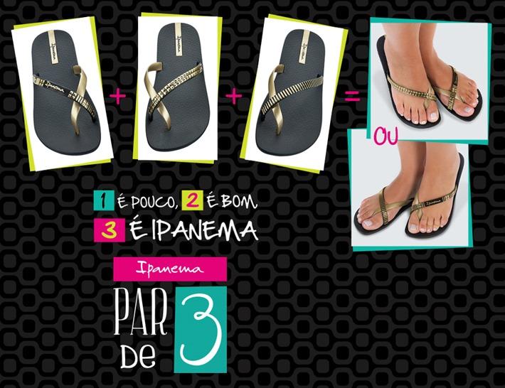 ipanema par de 3 sandalia