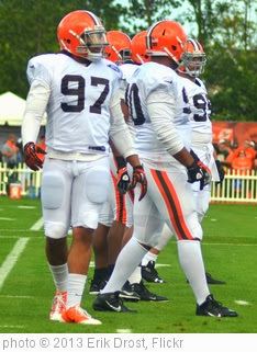 'Cleveland Browns Defensive Line' photo (c) 2013, Erik Drost - license: http://creativecommons.org/licenses/by/2.0/