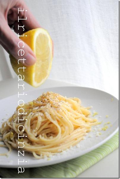 cacio e pepe con limone