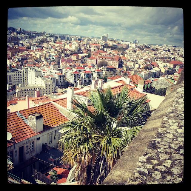 Saint George's Castle or, Castle of São Jorge view of Lisbon