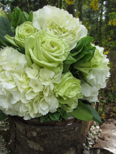 Green and white bridesmaids bouquet Ideas in Bloom