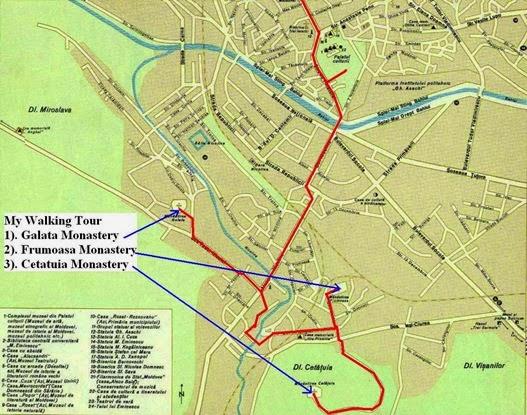 iasi monastery map