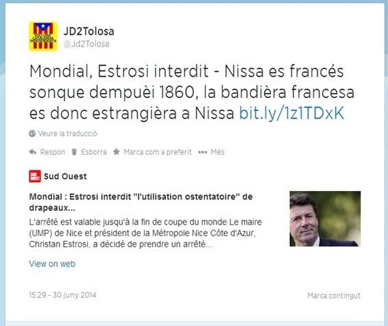 Estupiditat del nacionalisme francés Estrosi cort central
