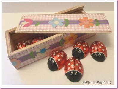 Chocolate Ladybird Easter Box