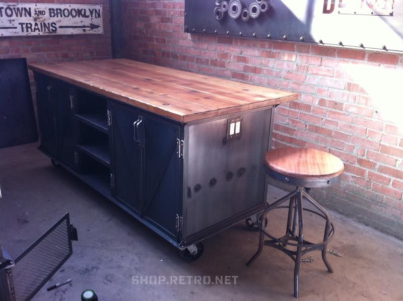 Bookcase vintage industrial furniture - Armoire metallique vintage ...
