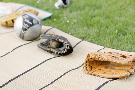Our baseball gloves