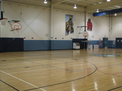 Some kids at the club enjoy this gigantic gymnasium (when they aren't at work studying).